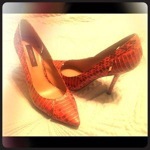Red/black Ann Taylor pumps
